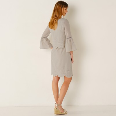 Robe broderie anglaise manches 3/4 Ficelle: Vue 2