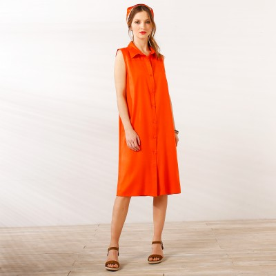 Robe chemisier Orange: Vue 2