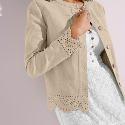 Veste broderie anglaise Sable: Vue 2