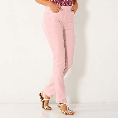 Pantalon stretch coutures affinantes Rose grisé: Vue 2