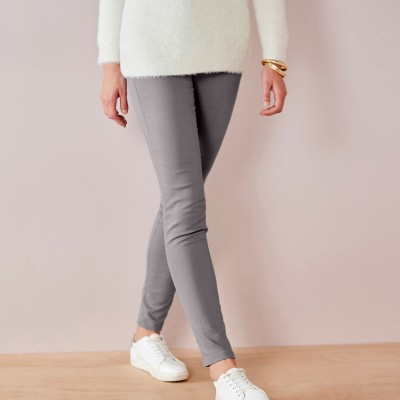 Jegging couleur ultra stretch Gris moyen: Vue 2