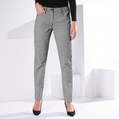 Pantalon girlfriend* imprimé Noir / blanc: Vue 2