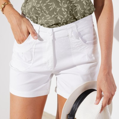 Short revers stretch Blanc: Vue 2