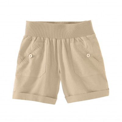 Short coton lin Naturel: Vue 2
