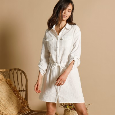 Blouse broderie anglaise Caramel: Vue 2