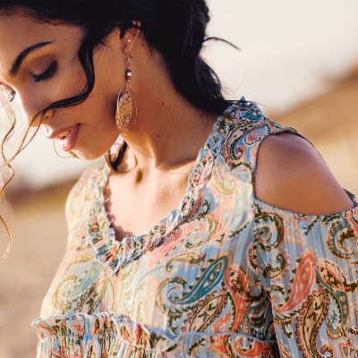 Blouse manches nouettes - unie Taupe: Vue 2