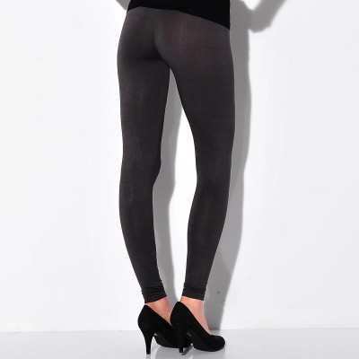 Legging stretch uni Anthracite: Vue 2