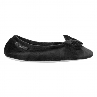 Ballerines unies velours Noir: Vue 2