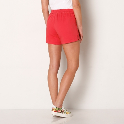 Short toile stretch Corail: Vue 2