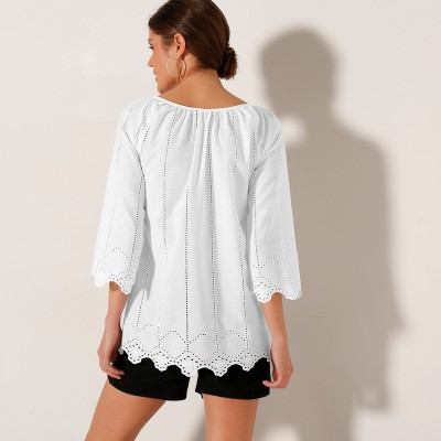 Blouse broderie anglaise Blanc: Vue 2
