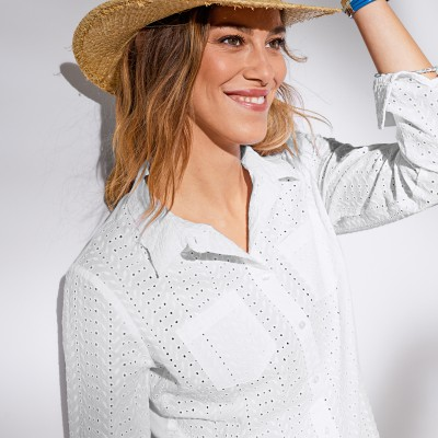 Chemise broderie anglaise Blanc: Vue 2