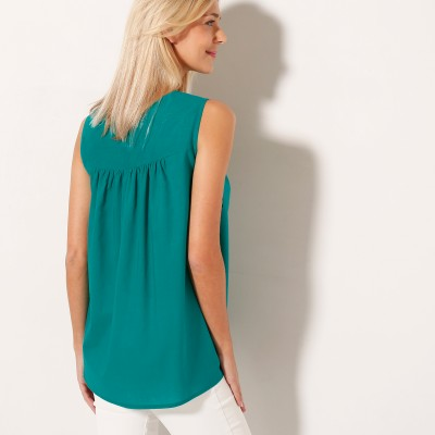 Blouse col rond broderie anglaise Menthe: Vue 2