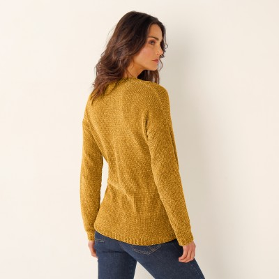 Cardigan maille chenille Miel: Vue 2