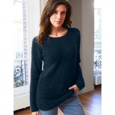 Pull col rond maille douceur Marine: Vue 2