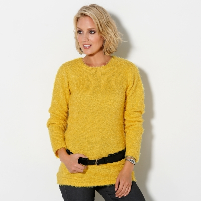 Pull col rond maille douceur Miel: Vue 2