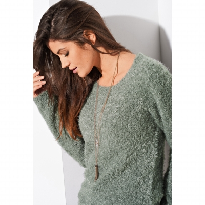 Pull col rond maille douceur Bronze: Vue 2