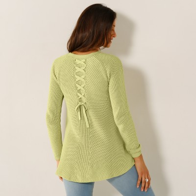 Pull lacé dos Anis: Vue 2