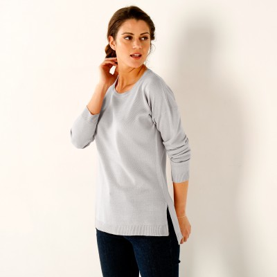 Pull col rond Gris perle: Vue 2