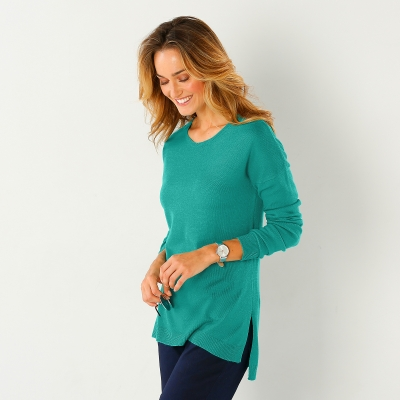 Pull col rond Menthe: Vue 2