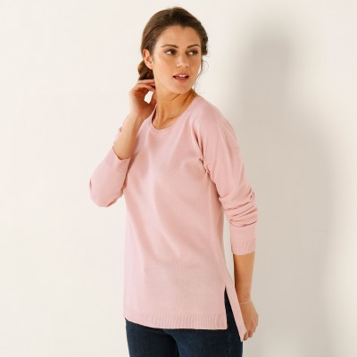 Pull col rond Rose poudré: Vue 2