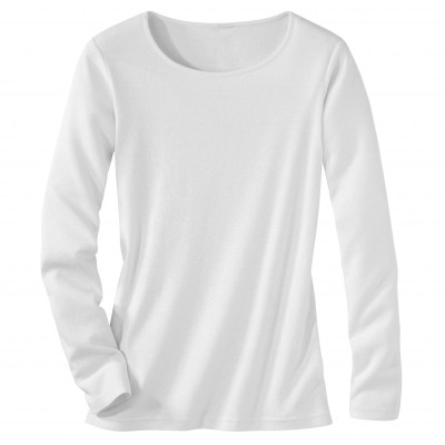 Tee-shirt col rond manches longues Blanc: Vue 2