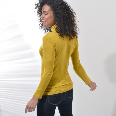 Sous-pull stretch viscose Vert anis: Vue 2