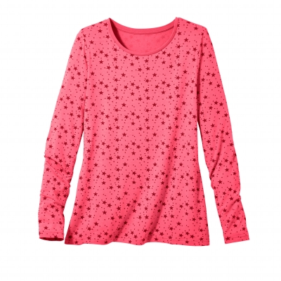 Tee-shirt imprimé viscose stretch Rose / cerise: Vue 2
