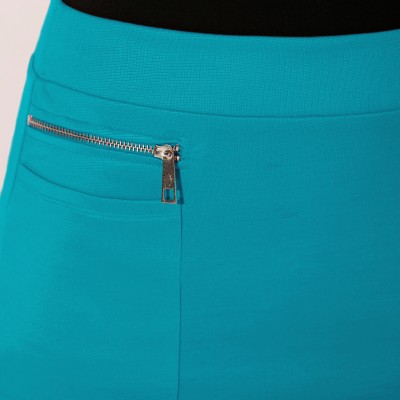 Jupe zippée maille milano Turquoise: Vue 2