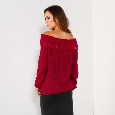 Pull oeillets manches longues Rouge: Vue 2