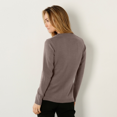 Pull col rond Taupe: Vue 2