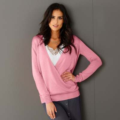 Pull cache-coeur Rose: Vue 2