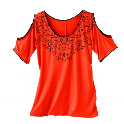 Tee-shirt imprimé Orange: Vue 2