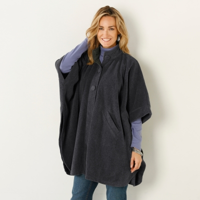 Poncho polaire Anthracite: Vue 2