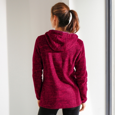 Sweat polaire imprimé chiné Cerise chiné: Vue 2