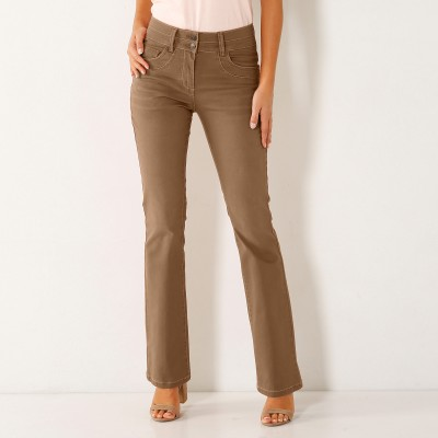 Jean bootcut stretch couleur Taupe: Vue 2