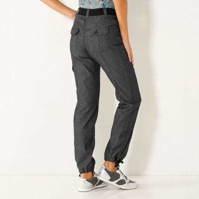 Pantalon denim ceinture maille Black: Vue 2