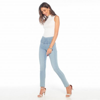Jegging extensible coupe skinny Stone: Vue 2