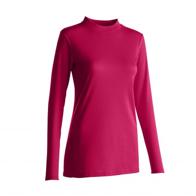 Tee-shirt thermique col montant - manches longues Fuchsia: Vue 2