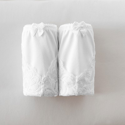 Shorty dentelle - lot de 2 2 blanc: Vue 2
