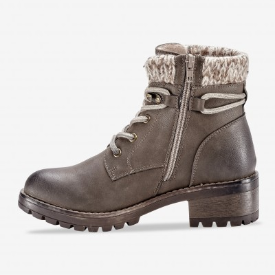 Bottines montagnardes, col chaussette - taupe Taupe: Vue 2