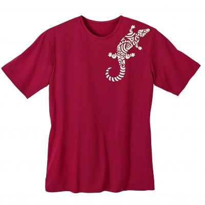 T-shirt imprimé tribal Rouge: Vue 2