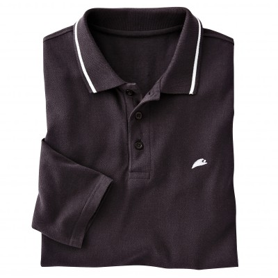Polo manches longues maille piquée Anthracite: Vue 2