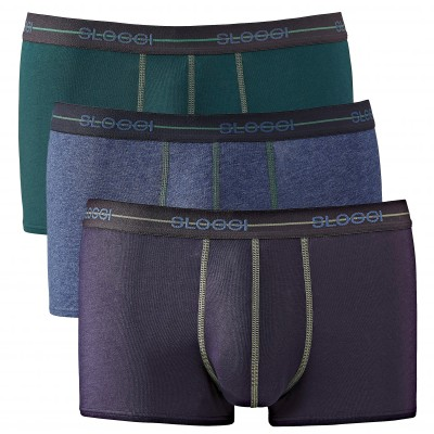 Boxer Men Start - lot de 3 Gris + bleu + vert: Vue 2