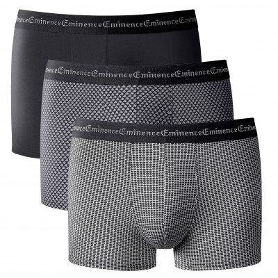 "Boxer ""Business Print"" Éminence® - lot de 3 Noir: Vue 2"