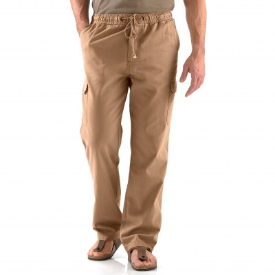 Pantalon cargo multipoches Sable: Vue 2