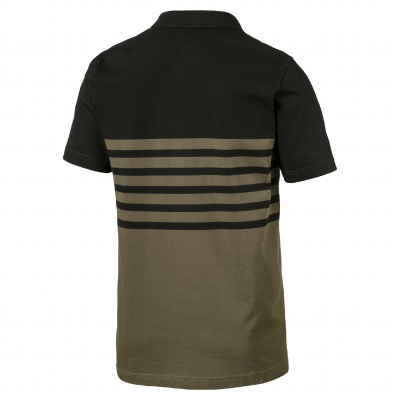 Polo manches courtes maille jersey olive Stripe Puma® Olive: Vue 2