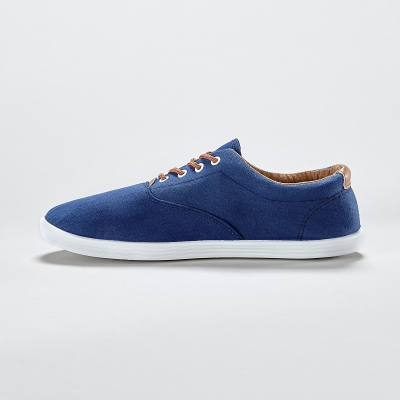 Sneakers toile lacets Marine: Vue 2