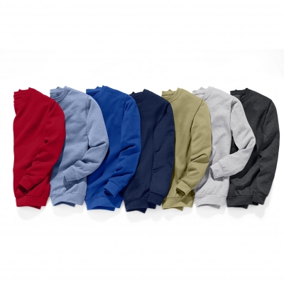 Sweat molleton col rond Bleu roy: Vue 2