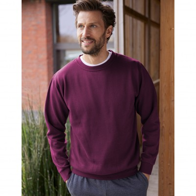 Sweat molleton col rond Prune: Vue 2