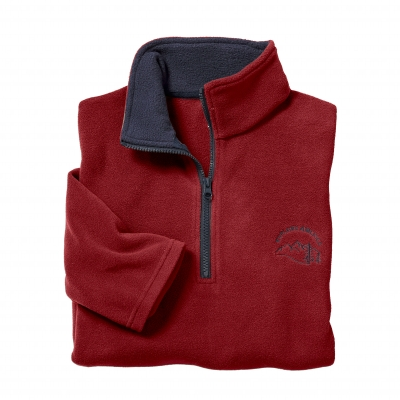 Sweat micropolaire Rouge: Vue 2